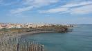 Plage de sable noir au cap d'Agde